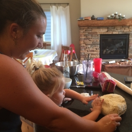 Learning how to make pizza dough