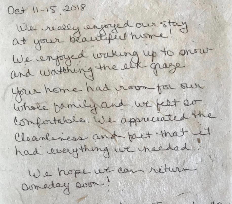 Estes Park Colorado lodging Review