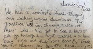 Review of our Estes Park Colorado Cabin